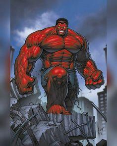 Hulk: World War Hulks variant cover art feat. Red Hulk by Dale Keown! World War Hulk, Planet Hulk, Comic Book Characters, Comic Book Heroes, Marvel Characters, Comic Character, Comic Books, Marvel Comics Art, Hulk Marvel