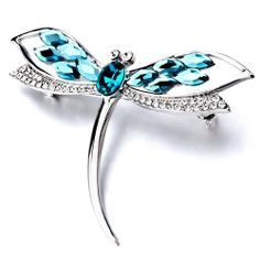 Pugster December Blue Birthstone Dragonfly Crystal Brooches And Pins Pugster. $28.39. Can be pinned on your gown or fastened in your hair with bobby pins.. Exquisitely detailed designer style with Swarovski cystal element.. One free elegant cushioned Gift box available with every order from Pugster.. Money-back Satisfaction Guarantee.. Occasion: casual wear,anniversary, bridal, cocktail party, wedding