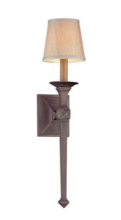 Troy Theo One Light Wall Sconce in Aged Pewter