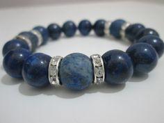 Lapis lazuli sawing bracelet gemstone by Lenajoyas on Etsy