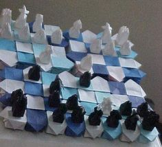 Origami Chess Set so cool!