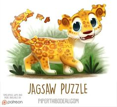 Daily Paint 1543. Jagsaw Puzzle #illustration by Piper Thibodeau
