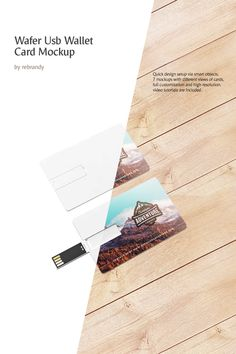 Wafer USB Wallet Card Product Mockup #ProductMockup #Wallet #USB #Wafer