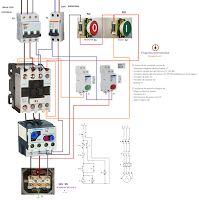 Esquemas eléctricos: arranque directo motor trifasico proteccion rele t...