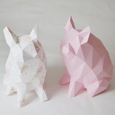 Porkido  My little paper piglet folding kit por StudioRenateDesign