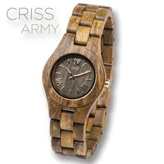 The new Criss Army! Spring Collection, Wood Watch, Army, Watches, Boots, Men, Accessories, Jewelry, Style