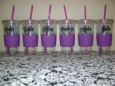 Personalized Tumbler Tumbler with straw Custom by MadeByCRose, $9.00