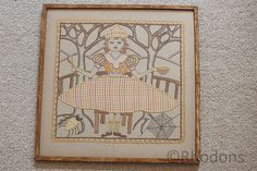 Art Deco Embroidery and Applique Nursery Rhyme Sampler