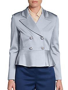 Double-Breasted Peplum Jacket