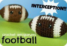 Crochet Amigurumi Football Pattern – CraftyAlien.com