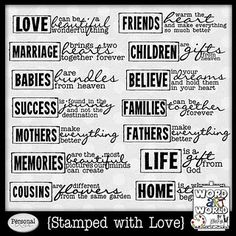Stamped with Love by Word Art World