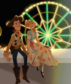 Woody and Bo (Toy Story (c) 2019 Pixar Animation Studios & Walt Disney Studios Disney Toys, Disney Cartoons, Disney Movies, Disney Characters, Disney And Dreamworks, Disney Pixar, Walt Disney Animation, Desenho Toy Story, Dibujos Toy Story
