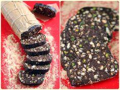çikolatalı salam dilimi