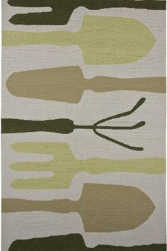 Garden Area Outdoor Area Rug, 2'X3', BLUE BROWN by Home Decorators Collection. $79.00. Perfect for the consummate gardener, the Garden Area Rug takes a practical approach to outdoor style. The abstract images of gardening tools give this rug a whimsical but down-to-earth look and feel. Place it outside on your patio or inside to liven up any indoor space. Order yours today. Hand-hooked, synthetic rug. Expertly made to withstand even the most high traffic rooms in your home. Actua...