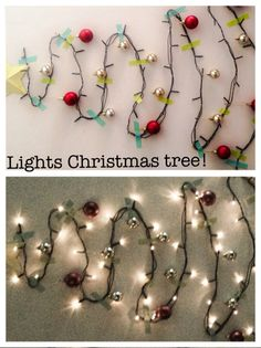 Christmas tree made out of lights--the only tree I think I'll manage this year