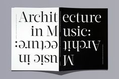 Center 18: Music in Architecture, Architecture in Music - Fonts In Use