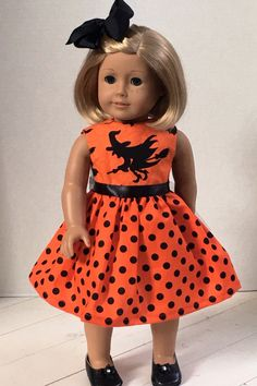 Doll Clothes American made Doll Dress Fits by JillRodgersDesigns