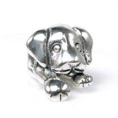 Queenberry Sterling Silver Puppy Laying Animal European Bead Charm - Overstock™ Shopping - The Best Prices on Queenberry Charms