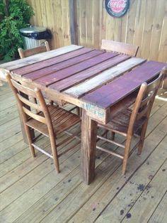 DIY Tisch aus Paletten. Super cool und robust