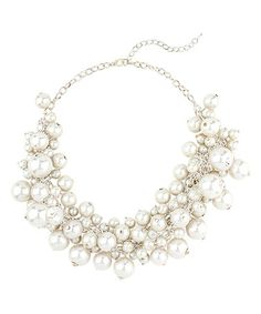 Another great find on #zulily! Faux Pearl Cluster Necklace #zulilyfinds