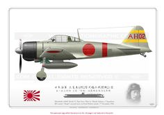 Mitsubishi Reisen (Zero-Sen) - World War II Social Place Ww2 Aircraft, Fighter Aircraft, Aircraft Carrier, Military Aircraft, Fighter Jets, Luftwaffe, In The Air Tonight, Imperial Japanese Navy, Aircraft Painting
