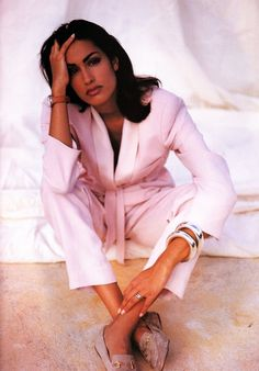 Yasmeen Ghauri | Photography by Walter Chin | For Elle Magazine UK | April 1991