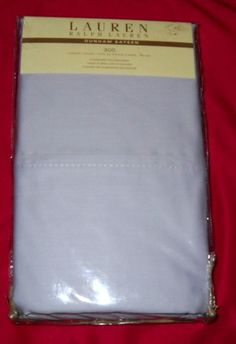 Ralph Lauren Dunham Sateen Pillowcases Set of 2 Lavender NWT 300 Thread Count