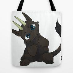 Chibi Dragon Tote Bag by noreliablack Chibi, Dragon, Reusable Tote Bags, Stuff To Buy, Dragons