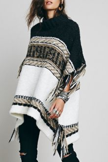 Asymmetrical Fringe Batwing Sleeve Sweater