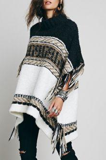 Asymmetrical Fringe Batwing Sleeve Sweater