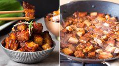 Lepkavý bůček Foto: Bucky, Kung Pao Chicken, Good Food, Pork, Beef, Fresh, Ethnic Recipes, Meat, Asia