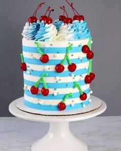 Pretty Cakes, Cute Cakes, Beautiful Cakes, Amazing Cakes, Cake Icing, Buttercream Cake, Eat Cake, Cupcake Cakes, Chocolate Birthday Cake Decoration