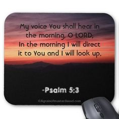 bible passages about prayer   Morning Prayer Bible Quotes Mouse Pads #Agrainofmustardseed