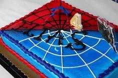 Superhero party with a Spiderman Birthday Cake Spiderman Birthday Cake, Superhero Birthday Party, Birthday Parties, 5th Birthday, Birthday Cakes, Birthday Ideas, Superhero Kids, Superhero Cake, Cupcake Cakes