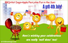 Wish your dear ones a fun filled celebration this Fourth of July. Free online A Great Fourth Of July ecards on of July Fourth Of July Quotes, Fourth Of July Crafts For Kids, Fourth Of July Shirts, Free Friends, Cards For Friends, Happy Fourth Of July, July 4th, 4th Of July Clipart, July Images