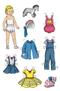 Mariana and Kim Paper Dolls--There are LOADS of paper dolls--they can be sized quite easily.  D--