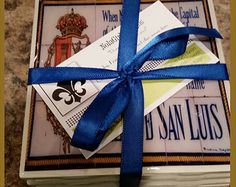 New Orleans, Coaster Set ,French Quarter,Spanish Tile Replicas, Wedding Favors, Corporate Gifts, Wholesale Pricing,Hostess Gift, Chirstmas