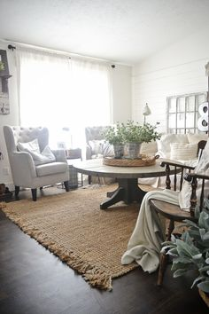 Living Room Jute Rug natural basket weave jute rug | room, living rooms and house
