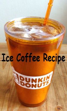 Dunkin' Donuts iced coffee recipe