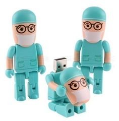 A USB drive that looks like a doctor.