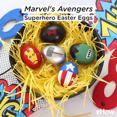 Avengers: Endgame hits theaters soon, and we're counting down the days until our favorite Marvel characters join forces to save the universe. To celebrate, we're combining spring festivities with comic book fun by painting Easter eggs to look like earth's mightiest heroes!