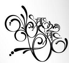 Increíbles tipografías en blanco y negro