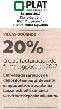 Villas Oquendo: Balance 2017 en el diario Gestión de Perú (10/01/18)