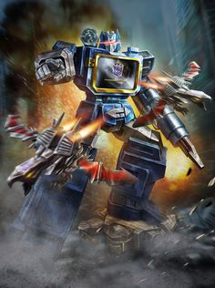 Soundwave: Forget that a robot turning into a boombox in the '80s was so, so cool. Forget that he sounded like T. Pain bent on world domination. Just focus on the fact that he had cassettes in his chest that turned into other deadly robots. Simply. The. Best.