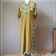 Long Linen Top Beautiful color combination. Brand new. With collar & decorative gold buttons. Sleeves are gathered & length adjustable. Back has block print pattern. There is a brown spots at the back as shown in picture. ❗️Selling at a discounted price due to brown spot.❗️Available in M, & L. Ask for the size that you want. Tops Tunics