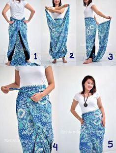 Bawahan: celana sarung