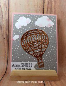 Stampin' Up! Friendship or Thinking of You card made with Lift Me Up stamp set and designed by Demo Pamela Sadler. See more cards at stampinkrose.com #stampinkpinkrose #etsycardstrulyheart