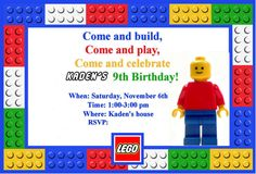 Free Printable Lego Birthday Invitations Boys – InviteTown