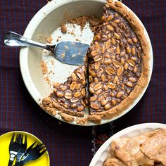 This pie recipe basically yields a Snickers bar... in pie form.