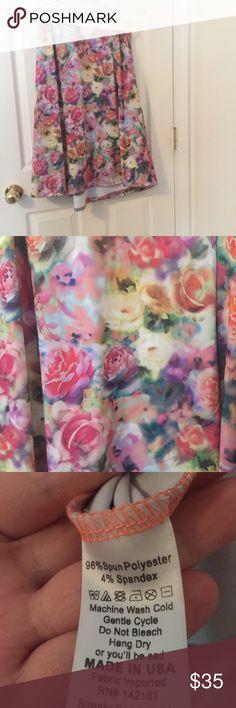 NWT 3XL Floral LulaRoe Maxi Skirt NWT 3XL Floral LulaRoe Maxi Skirt LuLaRoe Skirts Maxi